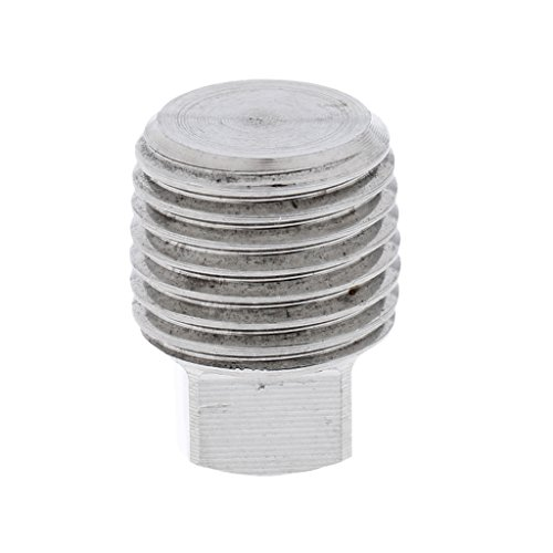 Dovewill Heavy Duty Stainless Steel Hull Spare Garboard Drain Replacement Plug Bung for Boats Marine Yacht - Silver, 1/2 inch