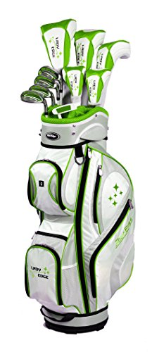 Tour Edge Women's 2014 Lady Edge Golf Full Set, Ladies Flex, Right Hand, Graphite, Lime, -1-Inch