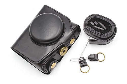 vhbw Polyurethan Kamera-Tasche schwarz passend für Kamera Panasonic Lumix DMC-LX10, DMC-LX9, DMC-LX15
