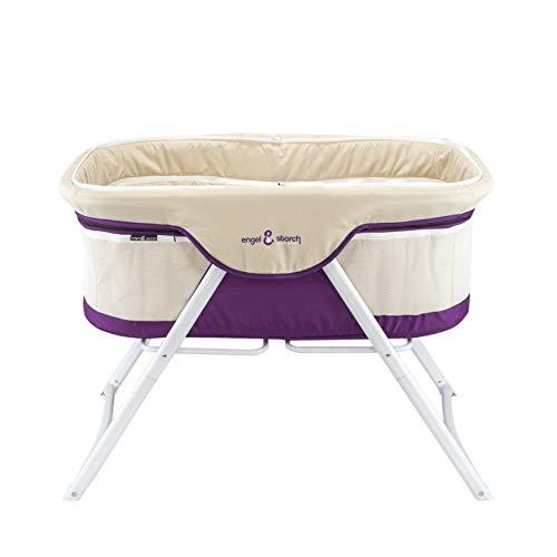 3-in-1 Baby Babybett Beistellbett Reisebett inkl. Moskitohaube, Matratze und Tasche – alle Farben (Violett) - 3