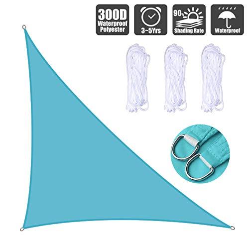 Toldo de sombrilla impermeable para jardín, patio, fiesta, 2 x 2 m, 98 % de bloqueo UV con cuerda libre