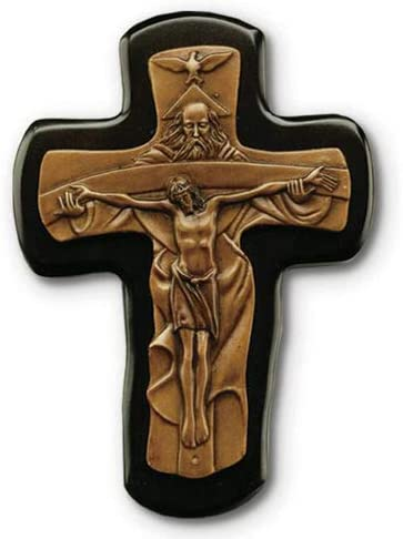 Holy Trinity Black Wood Bronze 6 Crucifix Corpus Wall Inch trend rank Seasonal Wrap Introduction