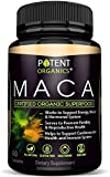 100% Organic Maca Extract 750mg – 60 Capsules – Natural Peruvian Maca Root Powder Supplement – Promotes Energy & Immune Health – Balances Hormones – Pure Extract for Men & Women
