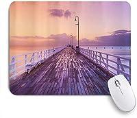 KAPANOUマウスパッド 航海沿岸木造橋海シーサイド海 ゲーミング オフィス最適 高級感 おしゃれ 防水 耐久性が良い 滑り止めゴム底 ゲーミングなど適用 マウス 用ノートブックコンピュータマウスマット