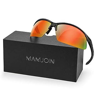 Mamjoin UV400 Polarized Sports Sunglasses for Men Women Youth Cycling Running Driving Fishing Golf Baseball