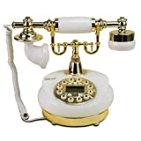 SXRDZ Antiguo teléfono Fijo Retro Estilo Europeo teléfono Cable Retro teléfono Oficina Oficina Fija decoración Fija
