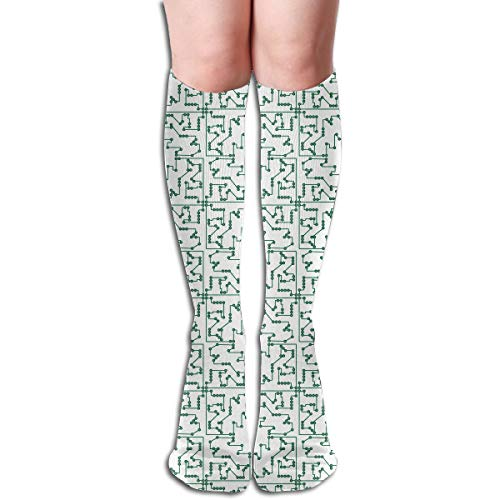 Circuit Board Motherboard Funny Athletic Socks Best Knee High Socks For Women And Men Running Travel