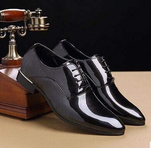 LOVDRAM Chaussures en Cuir pour Hommes Hommes Robe De Mariage Chaussures Ombre en Cuir Verni De Luxe De Mode Marié Parcravate Chaussures Hommes Oxford Chaussures Homme Décontracté ApparteHommests