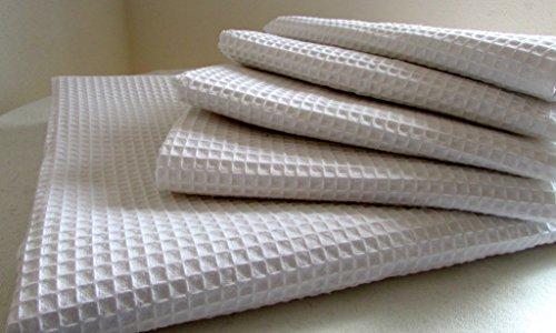Alpenwolle doekenset in wafelstructuur 5-delig, 1x douchehanddoek 107x175 cm; 4x handdoeken 40x105 cm