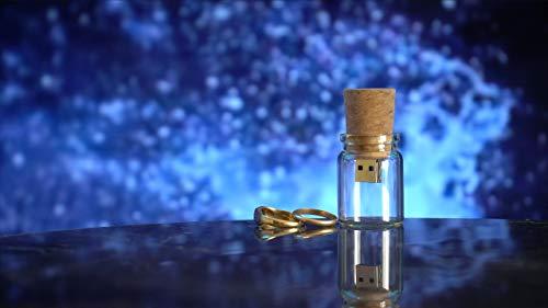 USB Botella De Cristal (4 GB) Botella de Cristal con Corcho para...