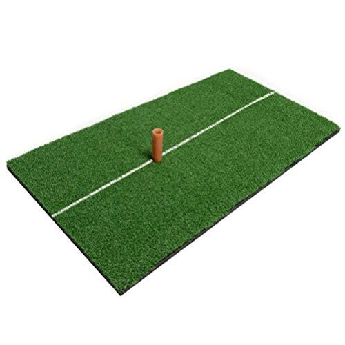BESPORTBLE Indoor Golf Praktijk Mat, Golf Swing Mat Kussen Goud Pad Swinging Kussen (Groen met TEE)