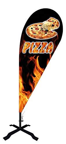 Beachflag Pizza -ca. 240 cm hoch- BMF010-K