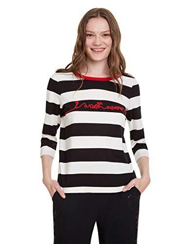 Desigual T-Shirt Matilde, Nero (Negro 2000), Small Donna