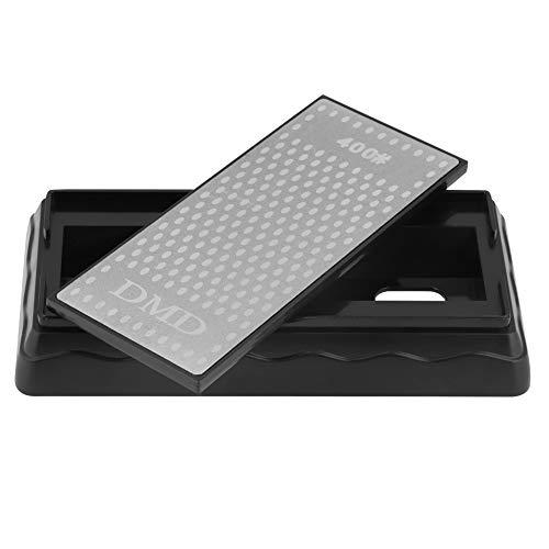 Schleifstein 200 × 70 mm 400/1000 Körnung Diamantschleifer Küchenmesser Schärfstein mit Abtropfsockel