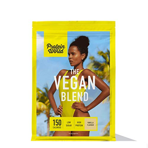Protein World - The Vegan Blend - Vegan Meal Replacement Weight Loss Shake Vanilla Ice Cream ½ Month (1kg)