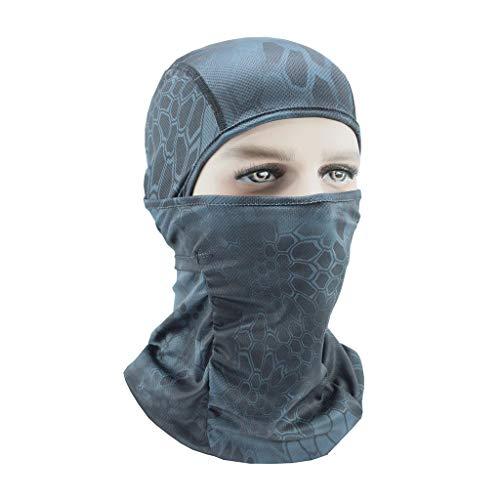 MOTOCO Sturmhaube Balaclava UV Schutz Gesichtschal Face Shields Atmungsaktive Wasserdicht Winddicht Thermal für Radfahren Motorradfahren Outdoor Sports(40X25X25CM.D)