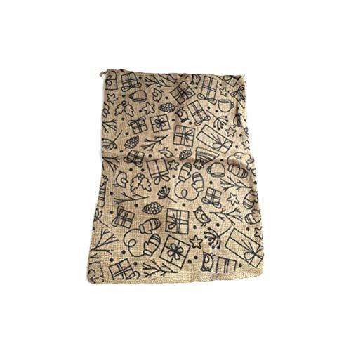 Schone Products (UK) Saco de yute de Navidad con estilo tradicional para regalos de Navidad, el espíritu de Navidad
