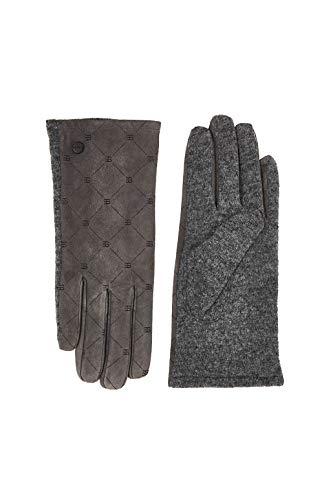 ESPRIT Accessoires Damen 100EA1R322 Winter-Handschuhe, 015/GUNMETAL, L