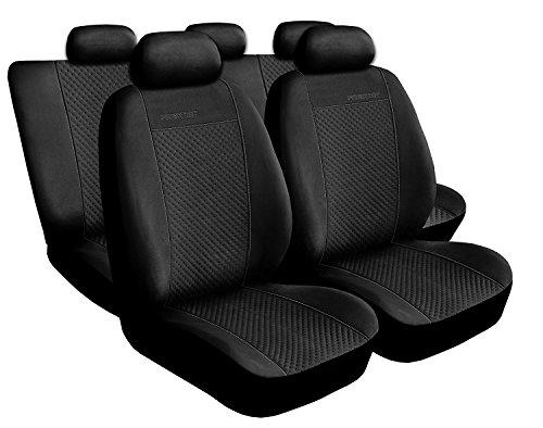 Voiture 4U, Premium Housses pour siège auto Protège Siège Set de 5 housses siège auto Siège auto protection, Prestige, coussins Housses de sièges Noir