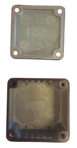 Hammond 1590MMBK Black Diecast Aluminum Enclosure with P.C. Board Mounting Ribs -- Inches (1.97' x 1.97' x 1.06') mm (50mm x 50mm x 27mm)