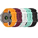 18MM Replacement Watch Band Straps Compatible with Fossil Gen 4 Q Venture HR Women Band, Fossil Women's Gen 3 Q Venture Bands (Orange,Red,Teal,White,Black)