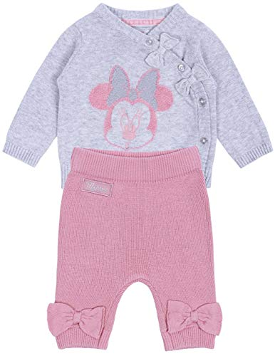 Grijs-roze babyset, trui + leggings Minnie Mouse Disney