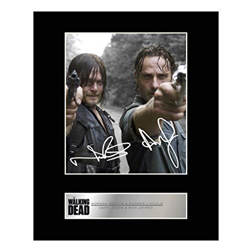 """Signierter Fotodruck von Norman Reedus alias Daryl Dixon und Andrew Lincoln alias Rick Grimes aus der Serie """"The Walking Dead"""""""