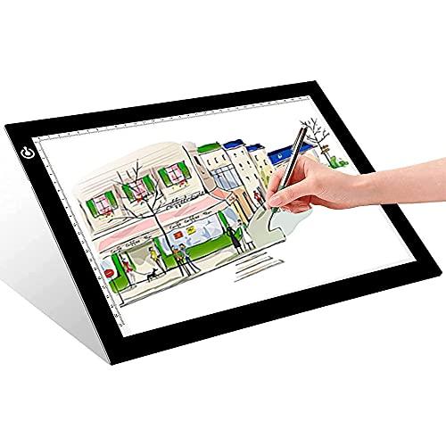 Vogvigo Tavoletta Luminosa A2 Tavolo Luminoso da Disegno Grande per Gli Artisti Animazione Schizzi - Interfaccia USB Luminosità Regolabile Funzione di Memoria