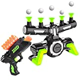 USA Toyz Astroshot Zero GX Glow in The Dark Shooting Games Target Practice Toys for Boys and Girls with Foam Dart Gun, 10 Floating Ball Targets, and 5 Flip Targets