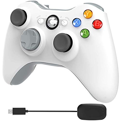Photo of YCCTEAM Xbox 360 Wireless Controller, 2.4GHz Enhanced Dual Vibration Xbox 360 Game Controller with Receiver Remote Gamepad for Xbox 360, PS3 and PC Windows 7/8/10 -No Audio Jack(White)