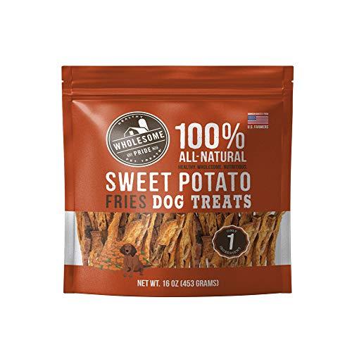 Wholesome Pride Sweet Potato Fries Dog Treats, 16 oz - Vegan, Gluten...