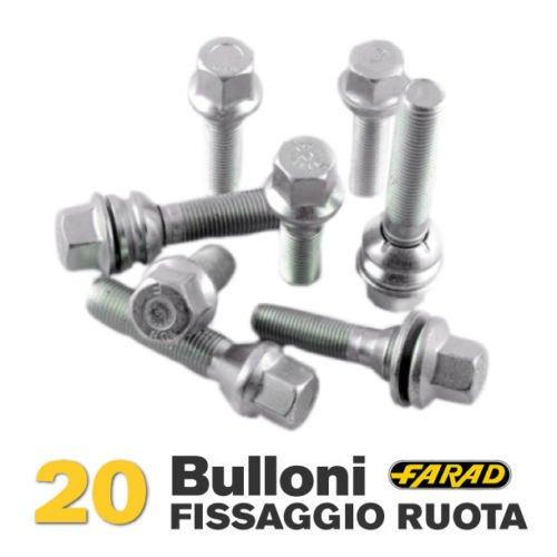 Stil Bull Bulloni Antifurto per Auto Farad Alfa Romeo Mito Ruote in Lega Originali