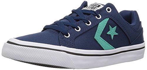 Converse El Distrito Canvas Low Top Sneaker, Multi (Gris mercurio/Borgoña oscuro), 35...