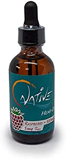 Sponsored Ad - Natural Native Hemp Tincture Oil (Raspberry, 300 mg) Therapeutic Grade for Anxiety Relief, Chronic Pain, Sl...