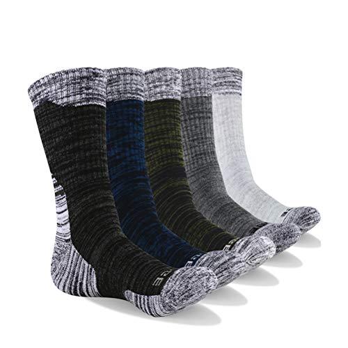 Opplei sokken, hoge enkelsokken, gebreide sokken voor dames en heren, zacht, antislip, ademend, 5 stuks voor klimmen, lopen, snowboarden, skiën, sportief