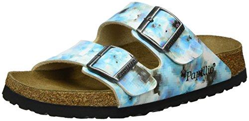 Papillio Arizona Birko-Flor Softfootbed, Ciabatte Donna, Multicolore (Pixel Blue Soft 132), 36 EU