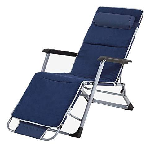 WLLQ Liege klapp mittagspause kühlen Stuhl schlafsessel Erwachsenen tragbaren faul ultraleichten multifunktions Haushalt