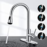 Touchless Kitchen Faucet-WaterSong Kitchen Faucet for Sink with Smart Sensor, Auto Off, 4Function Kitchen...