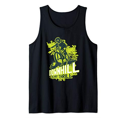 Mountain Bike - MTB Downhill Is My Thrill Biking Cycling Tank Top