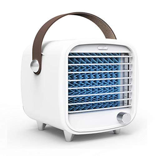 wuyi Aire Acondicionado Portátil Enfriador de Aire Mini 3 En 1 Climatizadores Evaporativos Personal Pequeño Ventilador Humidificador Y Purificador de Aire...
