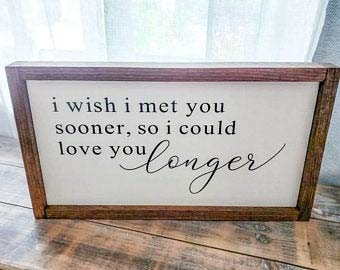 Free Brand oqsyyxgs Nursery Signs, I wish I met you soon, Love you longer Sign, Wood Sign