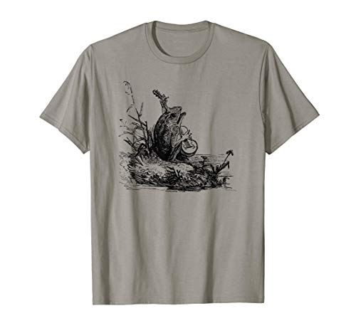 Cottagecore Frog Lover - Cute Frog Playing Banjo T-Shirt