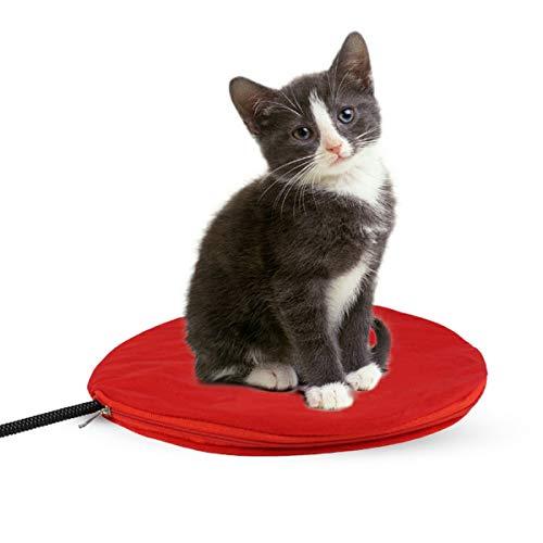 PETCUTE Manta Eléctrica para Gatos Cojín de Calefacción para Mascotas Almohadilla de Calentamiento para Perros y Gatos con Temperatura Regulable