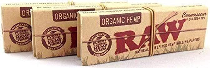 12 Pack of Raw Organic Hemp Connoisseur 1 1/4 Slim With Tips ...