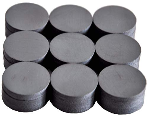 cutequeen Round Ceramic Industrial ferrite Magnets for Hobbies,Crafts and Science (18x4mm-27pcs, Black)