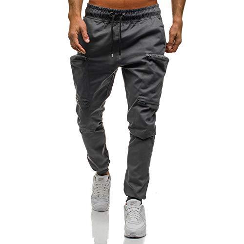 VANVENE - Pantalones de camuflaje elásticos para hombre con bolsillos
