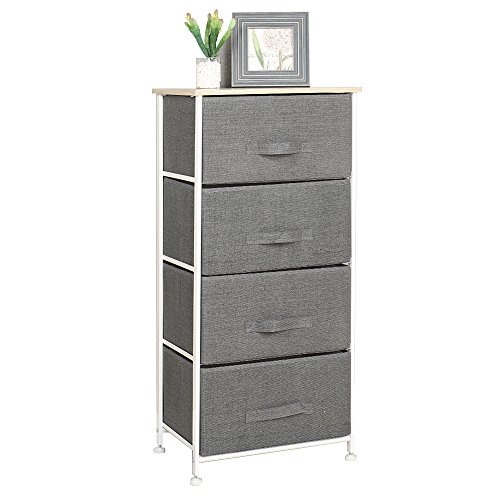 sogesfurniture 4 Drawer Wardrobe Storage Organizer Unit DIY Storage Cabinet Multi-Purpose Storage Chest for Bedroom, Living Room, Office, 45 x 30 x 94cm, Grey 103-GY-BH
