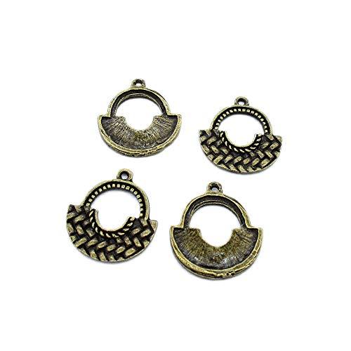 Schmuckanhänger L1KK1M, antiker Bronzeton, für Handtaschen, Geldbörsen, Schultertaschen, Kunst, Basteln, Perlen, 40 Stück