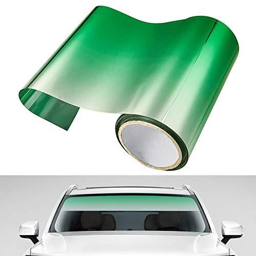 Semine Autofenster Sonnenblende Streifen Tönungsfolie Frontscheibe Schützen Schatten Aufkleber DIY Auto Decor
