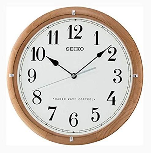 Seiko Funkwanduhr braun Holz (Erle) QXR208Z